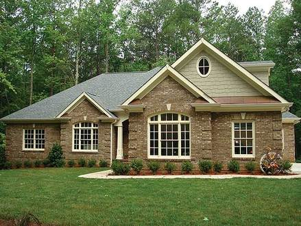 Brick Ranch House Plans Ranch Style House Plans