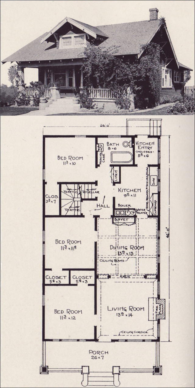 California bungalow house plans small bungalow house plans for Chicago style bungalow floor plans