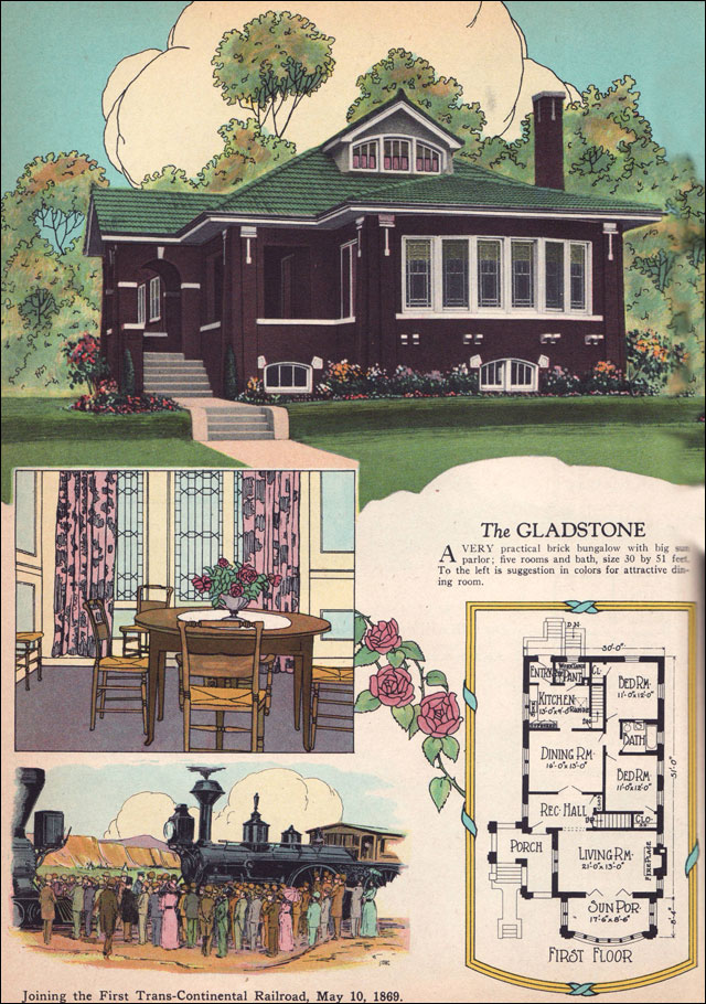 Chicago Bungalow House Plans Vintage Bungalow House Plans