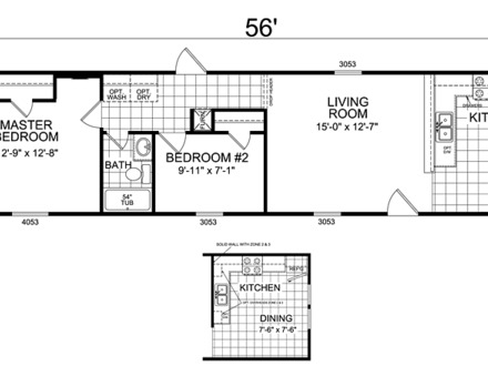 Clayton single wide mobile homes single wide mobile home for Large ranch home floor plans