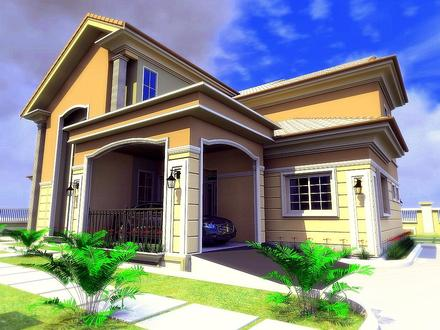Contemporary House Bungalow House with 3 Bedrooms