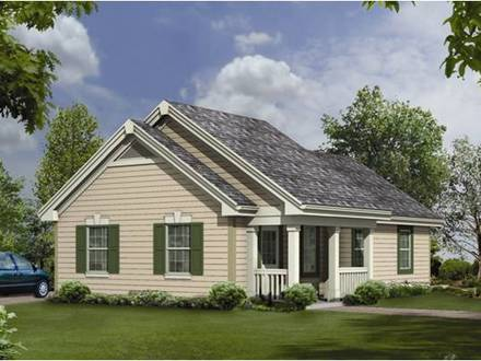 Small cottage house plans southern living small cottage for Southern living detached garage plans