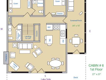 Cozy Cabin Layout 3 Bedroom Cabin Plans with Loft