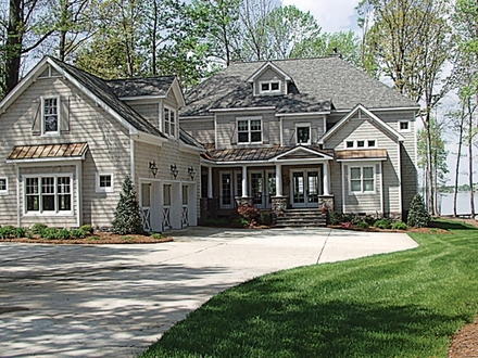 Craftsman style house plans craftsman house plans lake for Award winning ranch house plans
