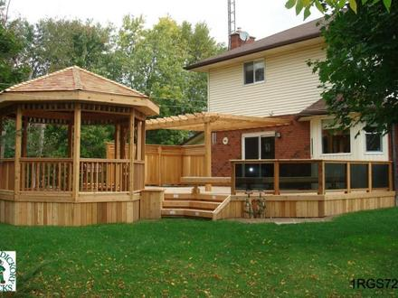 Deck Plans and Designs with Pergolas Covered Deck Designs Plans