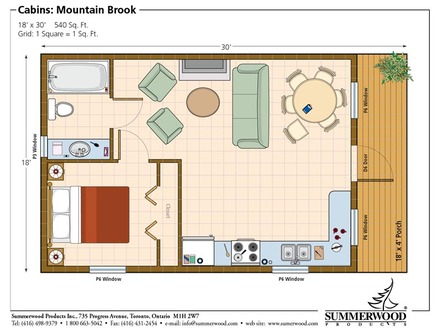 Draw a Model of a One Bedroom Apartment One Bedroom Studio House Plans