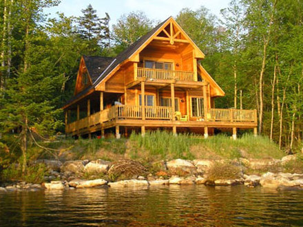 Exterior Rustic Lake House Rustic Lake Home House Plans