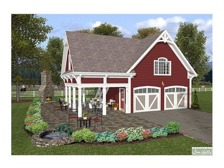 Four Car Garage with Carriage House Plans Carriage House Garage Plans