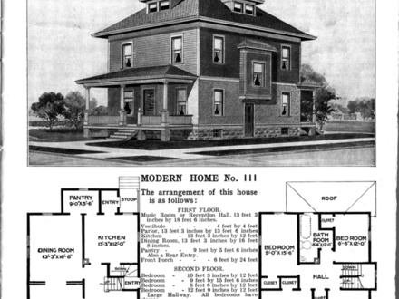 Four Square Home Floor Plan American Foursquare House Plans