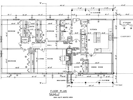 Free Ranch House Floor Plans Small Ranch Houses