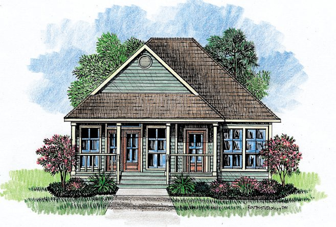 French Acadian House Plans Mississippi Acadian Cottage