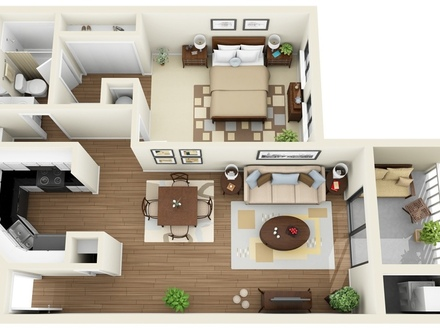 House Plans 1 Bedroom Apartment Luxury 1 Bedroom House Plans