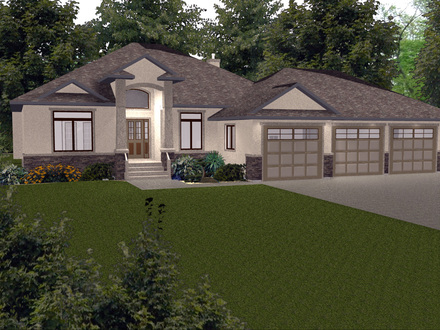 House plans with walkout basement craftsman house plans for Bungalow house plans with basement and garage