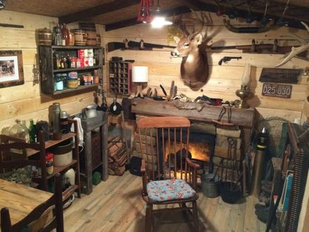 Hunting Cabin Man Cave Rustic Man Cave Ideas