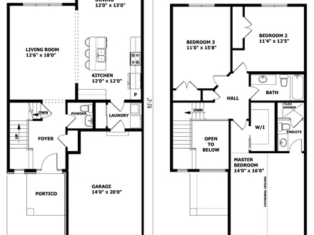 Inexpensive Two-Story House Plans Modern Two Story House Plans