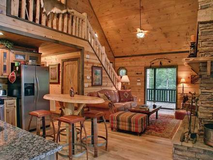 Inside a Small Log Cabins Small Log Cabin Interior Design Ideas