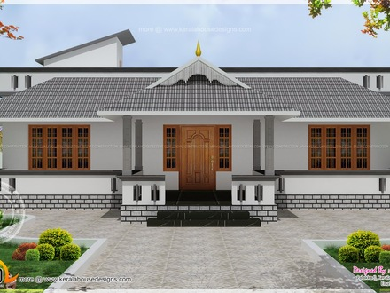 Kerala Single Floor House Plans Single Floor House Front Design