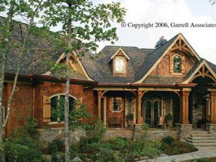 Mountain craftsman home interior ranch style homes for Mountain house plans rear view