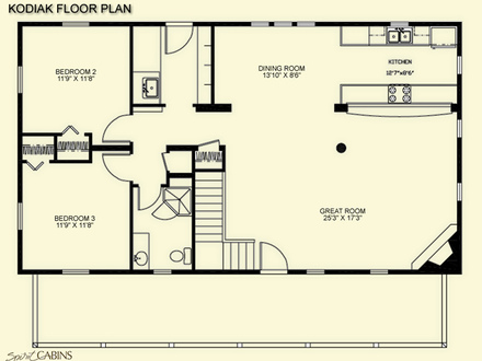 Little Log Cabins Floor Plans Log Cabin Floor Plans with Loft