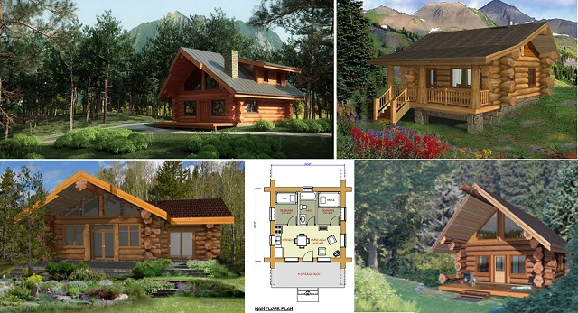 Log Cabin Floor Plans Log Cabin Plans Under 1500 Square