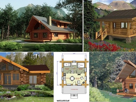 Luxury mountain log homes luxury log cabin home log cabin for Square log cabin plans