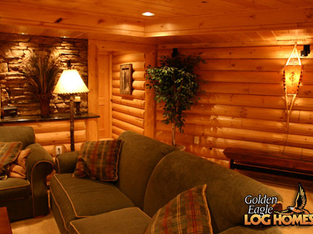 Log cabin plans with basement easy log cabin plans log for Log cabin basement ideas