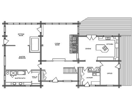 Log cabin floor plans log home floor plans log homes for Cabin floor plans and prices