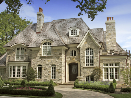 Luxury Stonehouse with White Windows Luxury Stonehouse