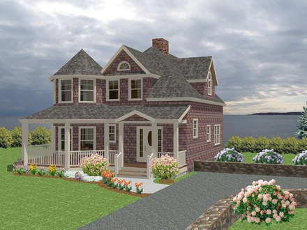 Modern New England New England Cottage House Plans