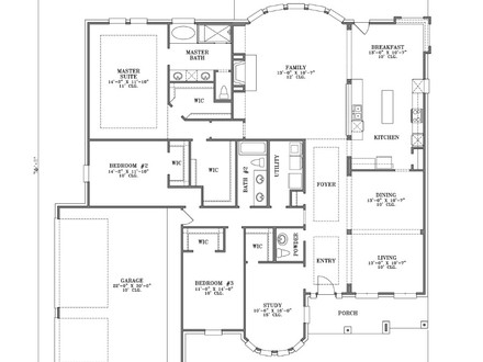 Simple one story floor plans one story house plans one for Simple one story ranch house plans