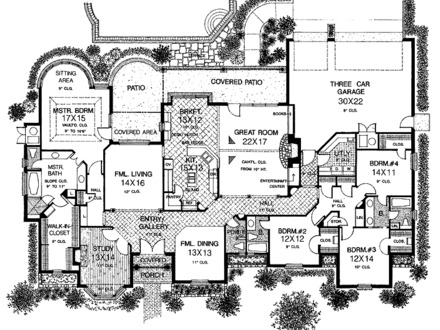 One Story Mediterranean House Plans Large One Story House Plans