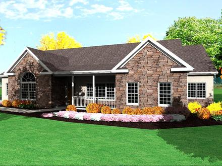 One Story Ranch House Plans One Story Brick House