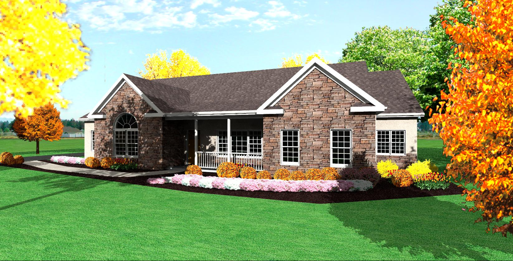 One story ranch house plans simple one story houses for Ranch house designs blog