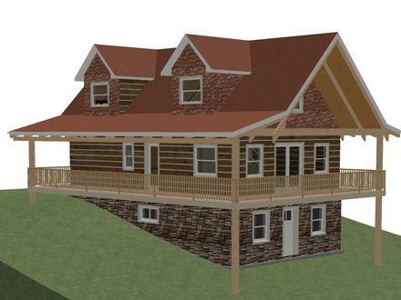 Open Floor Plans Log Home with Plans Log Home Plans with Walkout Basement