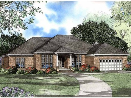 Hip roof house plans with porches houses with hip roof for Hip roof ranch house plans