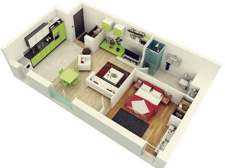 Simple 1 Bedroom House Plans House Plans 1 Bedroom Apartment