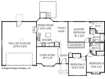 Simple Ranch House Plan Small Ranch House Plans