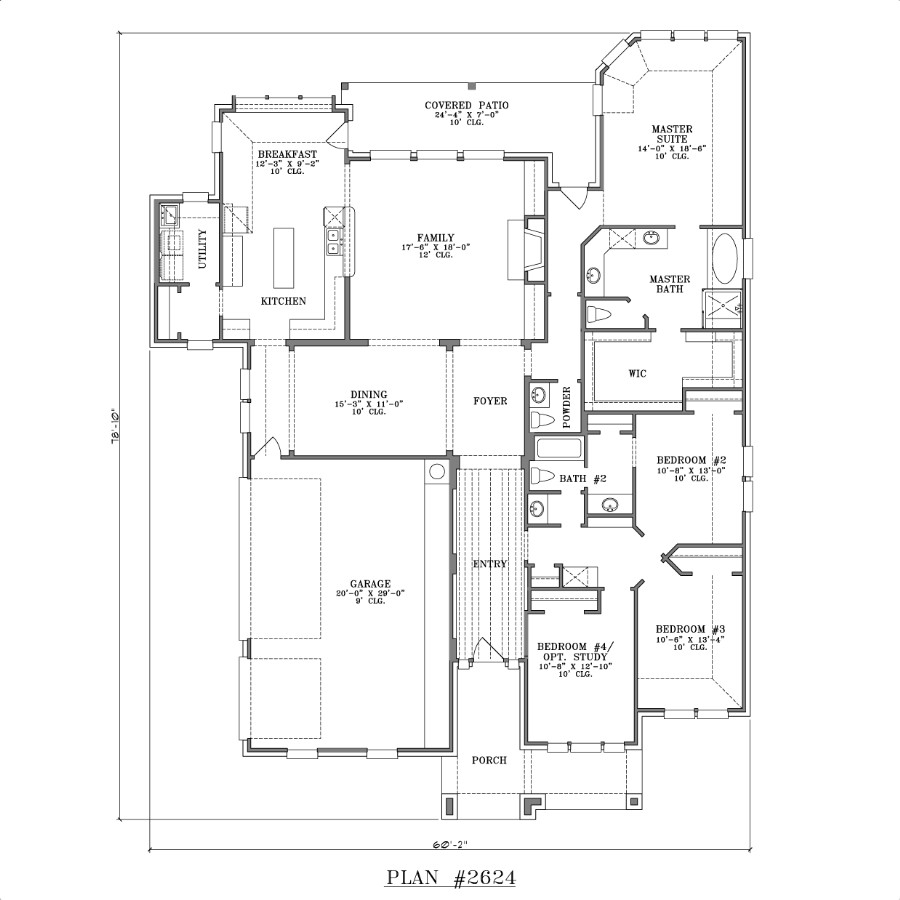 Single story house designs large single story house plans for Single level home floor plans