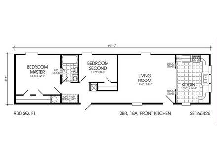 Single Wide Mobile Home Floor Plans Single Wide Mobile Home Floor Plans