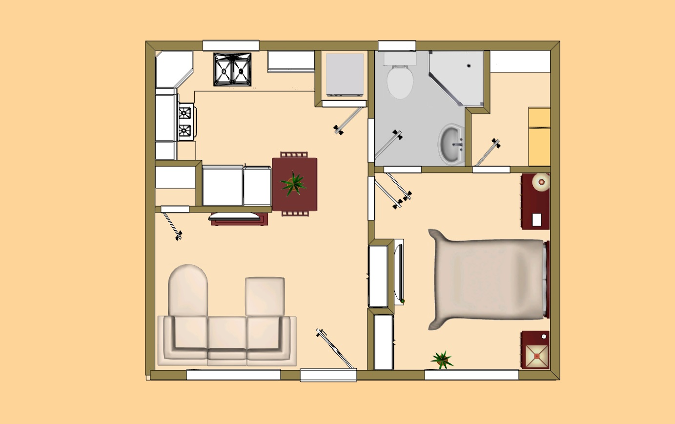 Small Cottage House Plans Small House Plans Under 500 Sq FT