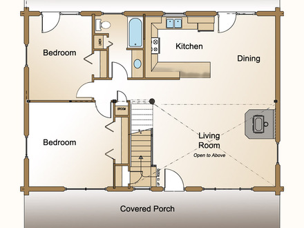 Small Cottage Plans Open-Concept Small Open Concept House Floor Plans