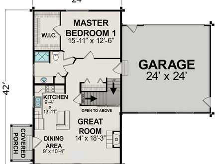 Small House Floor Plans Under 600 Sq FT Very Small House Plans