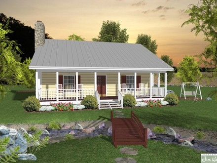 Small House Plans with Porches Small House Plans with Angled Garages