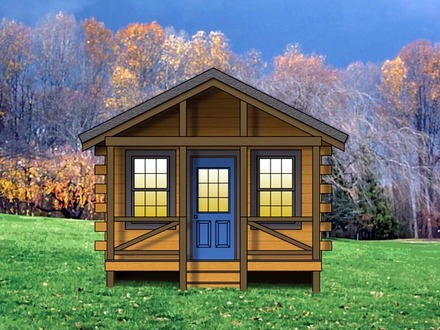 Small Mountain Cabin Plans Weekend Cabin Plans