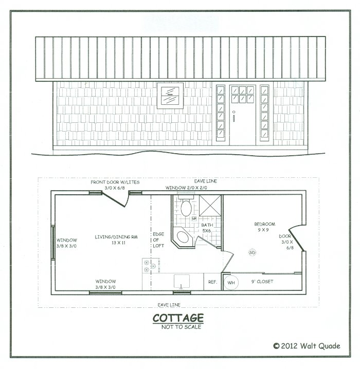 Small post and beam house plans small cottage guest house for Post and beam house plans floor plans