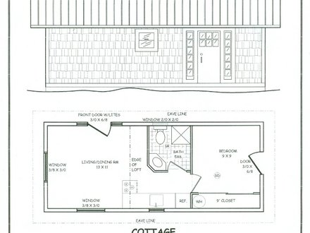 Cottage floor plans with loft guest cottage plans guest for Small post and beam house plans