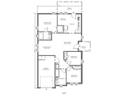 Small Two Bedroom House Plans Small House Floor Plan