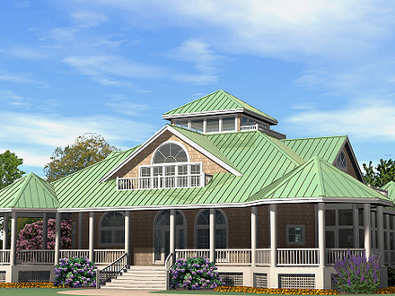Southern cottages house plans for Single story house with wrap around porch