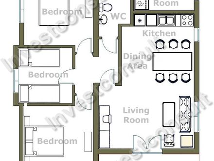 Three Bedroom House Small 3 Bedroom House Floor Plans