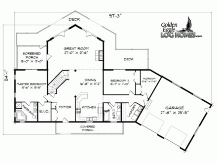 House plans with walkout basement icf house plans walkout for Waterfront home plans sloping lots